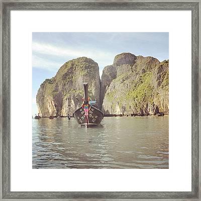 #thailand #phuket #mayabeach #mayabay Framed Print by Mohamed Shafy