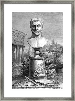 Thales, Ancient Greek Philosopher Framed Print by