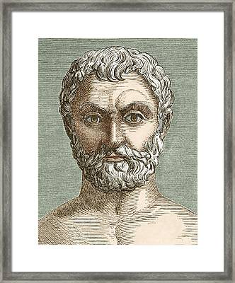 Thales, Ancient Greek Philosopher Framed Print by Sheila Terry