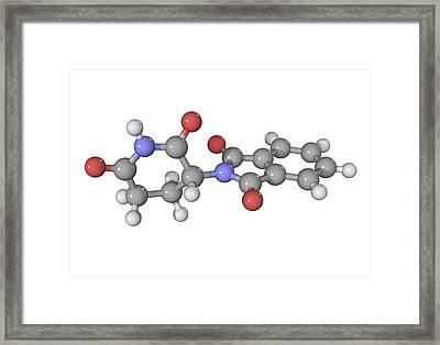 Thalidomide Drug Molecule Framed Print by Laguna Design