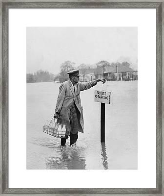 Thames Floods Framed Print by Fox Photos