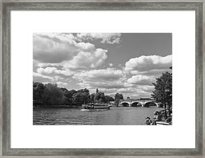 Framed Print featuring the photograph Thames River Cruise by Maj Seda
