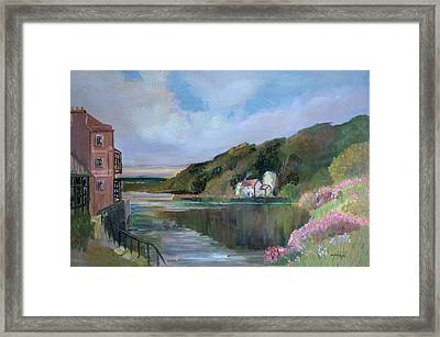 Thames River England By Mary Krupa Framed Print by Bernadette Krupa