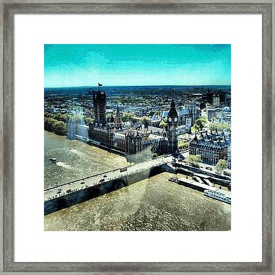 Thames River, View From London Eye | Framed Print by Abdelrahman Alawwad