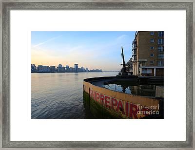 Thames Sunrise Framed Print by Donald Davis