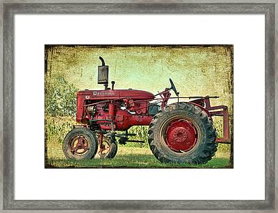 Thank A Farmer Framed Print by Bonnie Barry