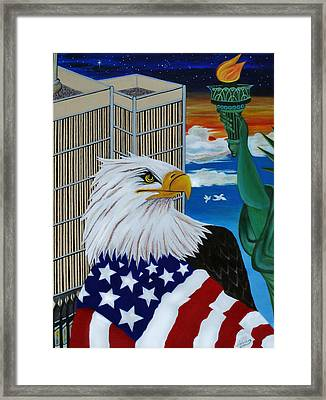 Thank A Soldier Framed Print by Adele Moscaritolo