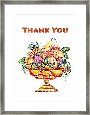 Thank You Card Fruit Vase Framed Print by Irina Sztukowski