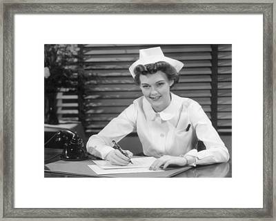Thank You Nurse Framed Print by Hulton|Archive