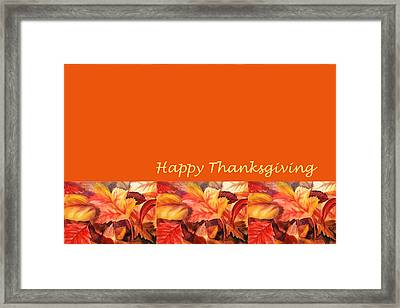 Thanksgiving Card Framed Print
