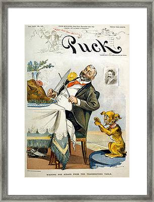 Thanksgiving, Puck Magazine Cover Framed Print by Everett