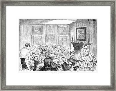 Thanskgiving Dinner, 1857 Framed Print by Granger