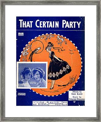 That Certain Party Framed Print