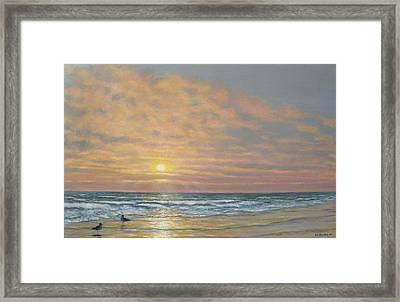 Framed Print featuring the painting That Razzle Dazzle Time Of Day by Kathleen McDermott