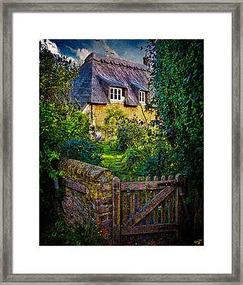 Thatched Roof Country Home Framed Print by Chris Lord