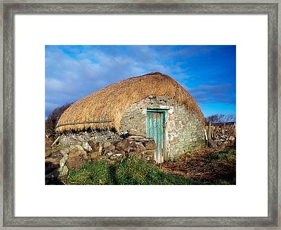 Thatched Shed, St Johns Point, Co Framed Print by The Irish Image Collection
