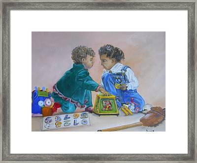 That's Mine Framed Print by Joyce Reid
