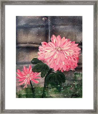 Framed Print featuring the painting That's My Mum by Kathy Sheeran