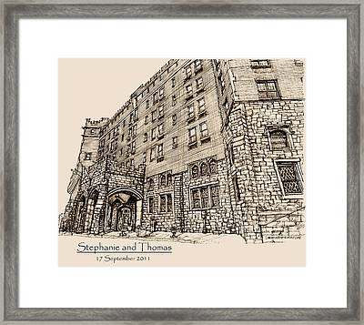 Thayer Hotel For Steph And Thomas Framed Print by Building  Art