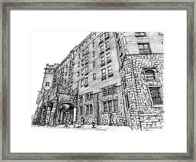 Thayer Hotel In Upstate Ny Framed Print by Building  Art
