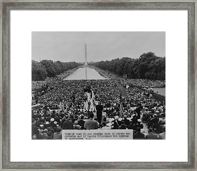 The 1957 Civil Rights Demonstration Framed Print