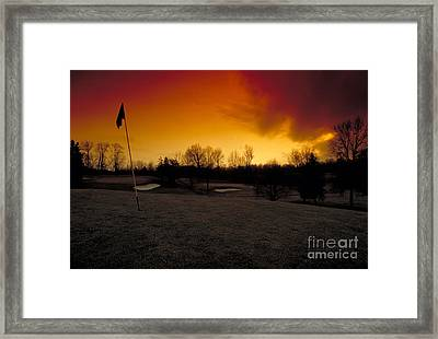 The 19th Hole Framed Print by Guy Harnett