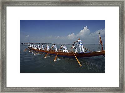 The 20th Annual  94 Vogalonga - A 32km Framed Print by Sam Abell