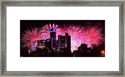 The 54th Annual Target Fireworks In Detroit Michigan Framed Print by Gordon Dean II