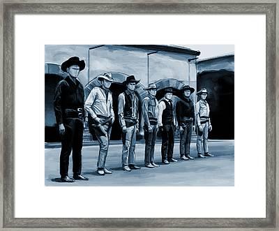 The 7 Framed Print by Kurt Ramschissel