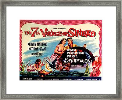 The 7th Voyage Of Sinbad, Aka The Framed Print by Everett