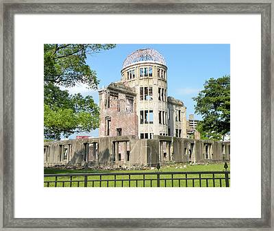The A-bomb Dome In Hiroshima Framed Print by Jessica Estrada