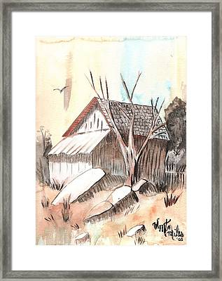 The Abandoned Woodshed Framed Print by Windy Mountain