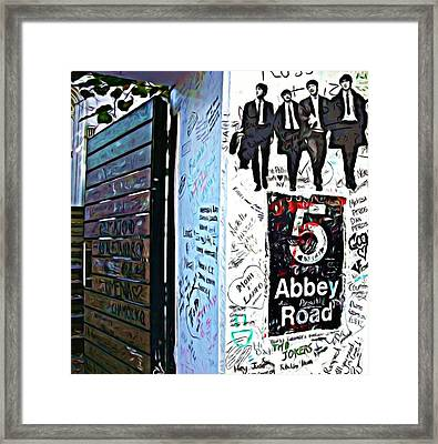 The Abbey Wall Framed Print by ABA Studio Designs
