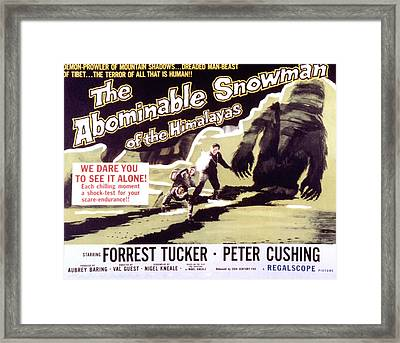 The Abominable Snowman, Aka The Framed Print