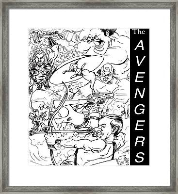 The Advengers Framed Print by Big Mike Roate