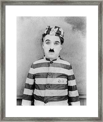 The Adventurer, Charlie Chaplin, 1917 Framed Print