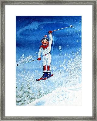 The Aerial Skier 15 Framed Print by Hanne Lore Koehler