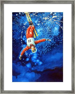 The Aerial Skier 20 Framed Print by Hanne Lore Koehler