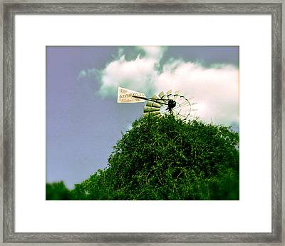 The Aermoter Framed Print by Amber Hennessey