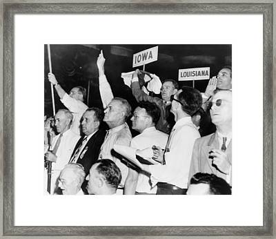 The Agitated Alabama Delegation Framed Print by Everett