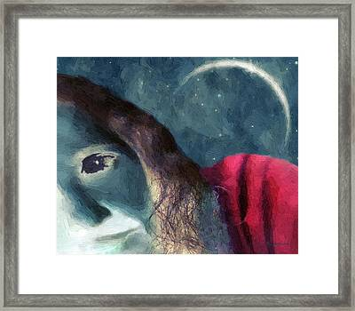 The Agony Of Saint Catherine Framed Print by RC deWinter
