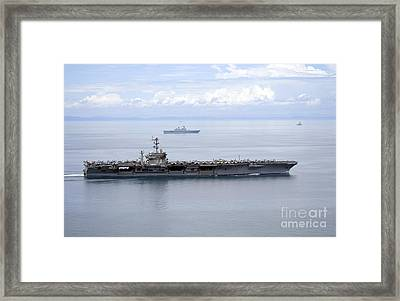 The Aircraft Carrier Uss George Framed Print by Stocktrek Images