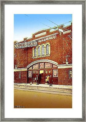 The Alcazar Theatre In Naugatuck Ct 1913 Framed Print