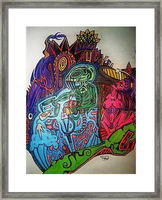 The Alien Post Man Framed Print by Ragdoll Washburn
