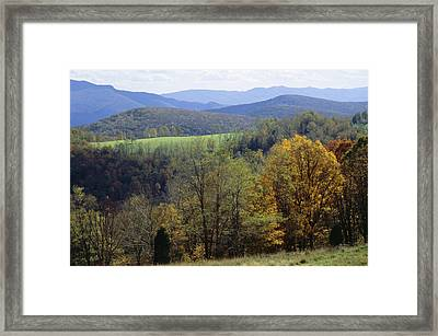 The Allegheny Front, North Fork Framed Print by Raymond Gehman