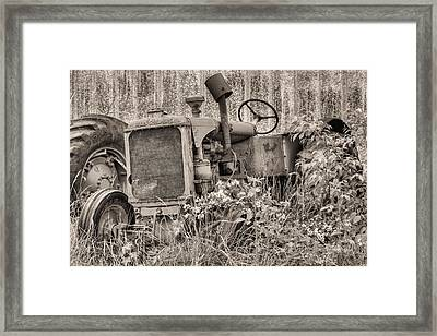The Allis Chalmers Bw Framed Print by JC Findley