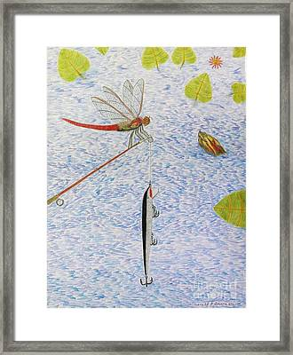 The Allure Of The Rod Framed Print by Gerald Strine