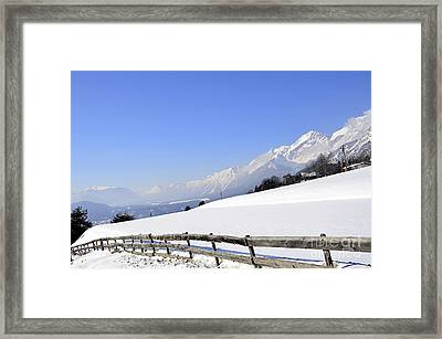 The Alps  Framed Print