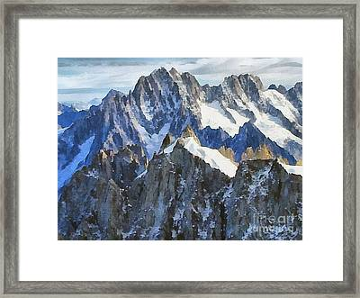 The Alps Framed Print by Odon Czintos