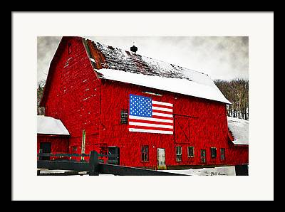 The American Dream Digital Art Framed Prints